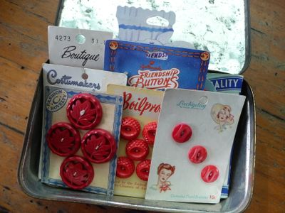 Red Vintage Buttons