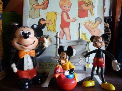 Three Vintage Mickeys
