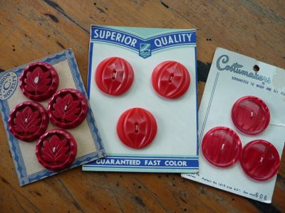 Red Bakelite Buttons