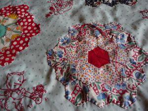 Stitching the hexagon blocks