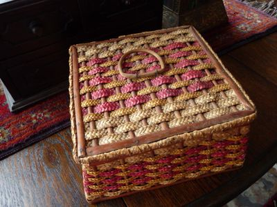 Cane sewing basket 002
