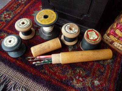 Cane sewing basket 005