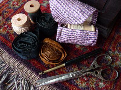 Cane sewing basket 006