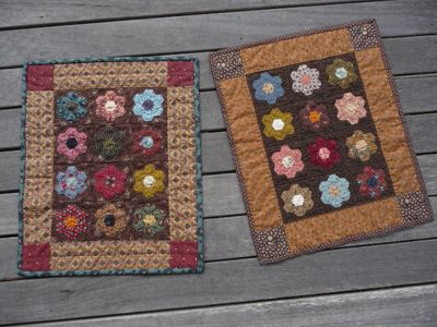 Our sweet little hexagon doll quilts