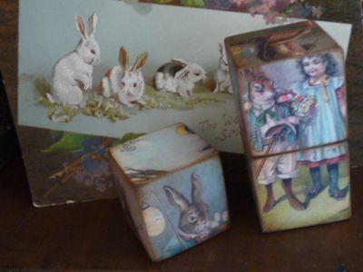 Easter card & blocks