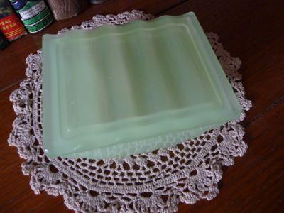 Jadeite art deco dish (2)