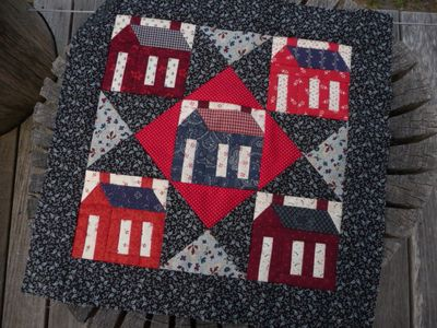 Schoolhouse quilt top
