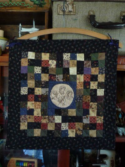 My little doll quilt from Jan