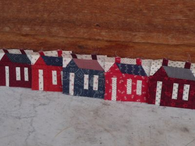 Five small schoolhouse all in a row