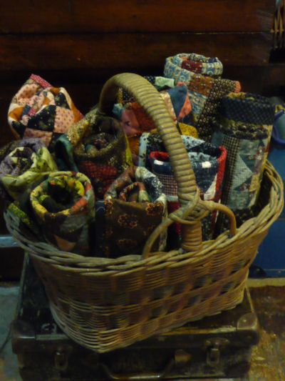 Basketful of quilts