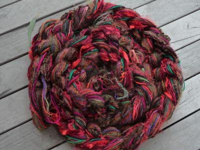 Earthy autum tones ~ scarf warp