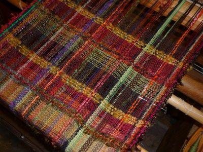 Earthy autum tones ~ on the loom