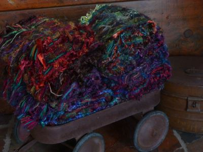 A cartload of scarves