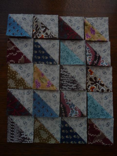Mini Scrappy Triangles HST's