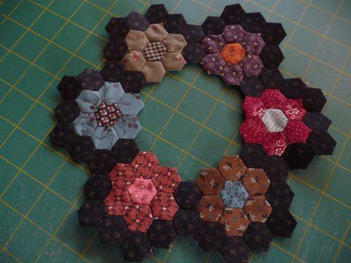 Mini hexie blocks (10)