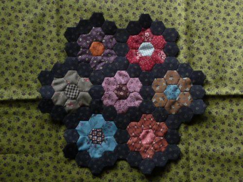Mini hexie blocks (12)