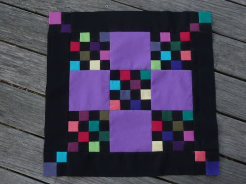 Amish 9-patch quilt