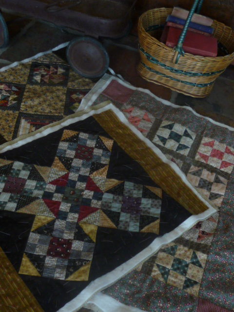 Three small quilts