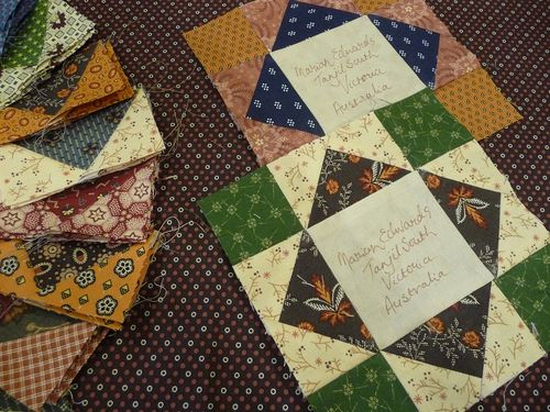 Flying geese ~ signature blocks (1)