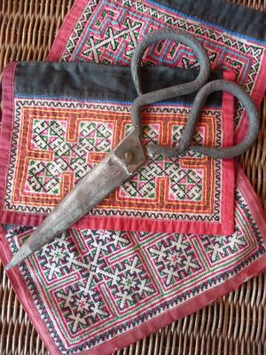 Forged scissors & embroidered collars from Vietnam