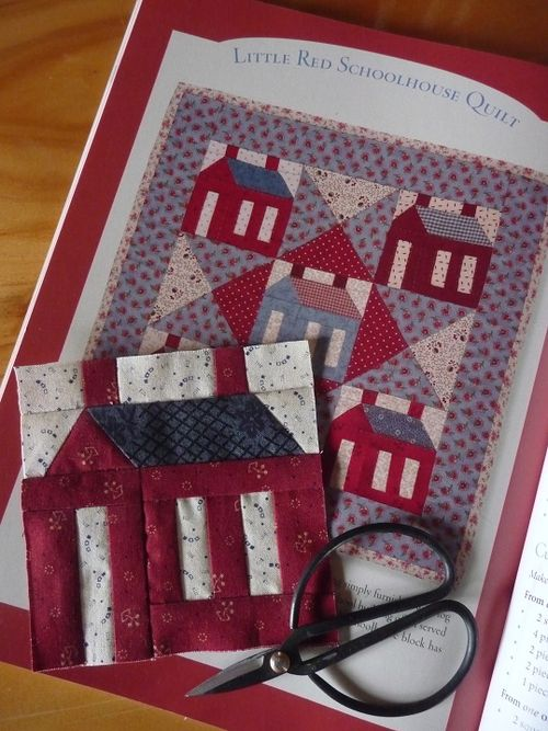 Little Red Schoolhouse Quilt (1)