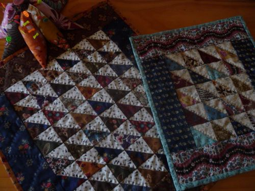 Scrappy Triangles Doll Quilts
