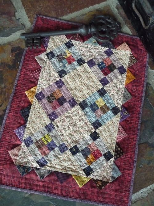 Prairie Points Doll Quilt