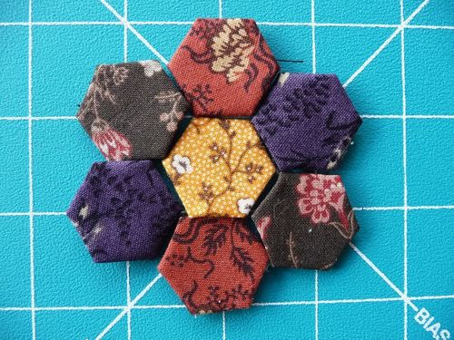 Hexies for Bronwyn's pincushion