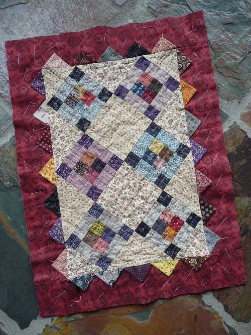 Prairie Points Doll Quilt (1a)