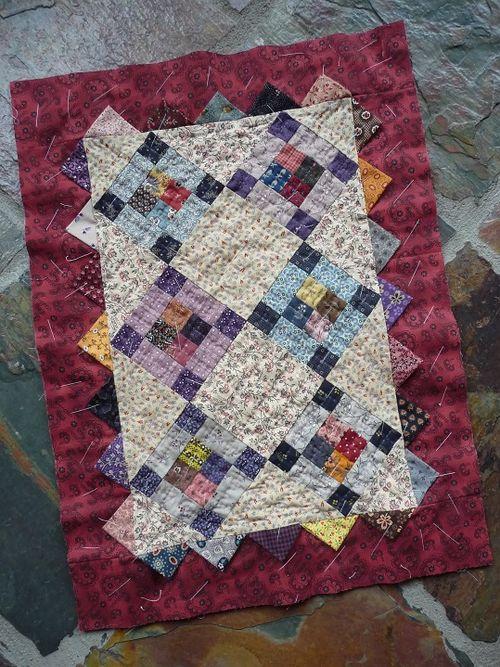 Prairie Points Doll Quilt (1a)
