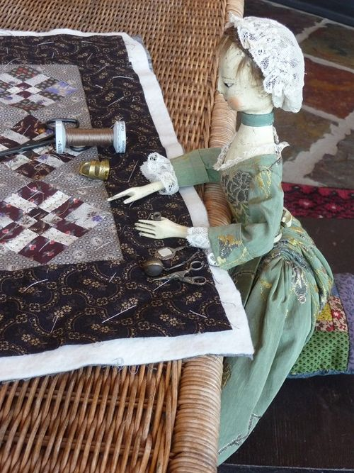 Inspecting the quilting