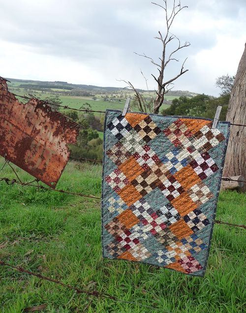 9-patch quilt~July2015 challenge
