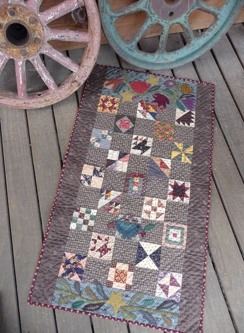 Scrapbasket Sampler with wool applique