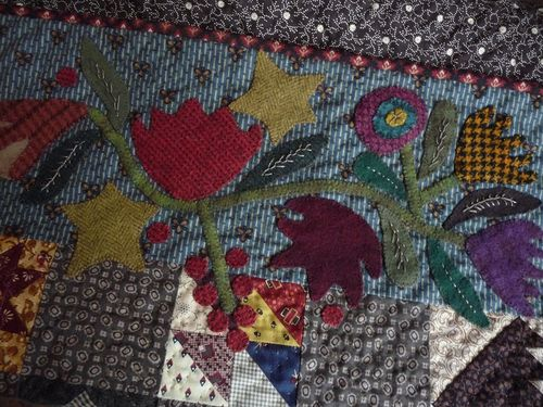 Wool applique ~ top border (1)