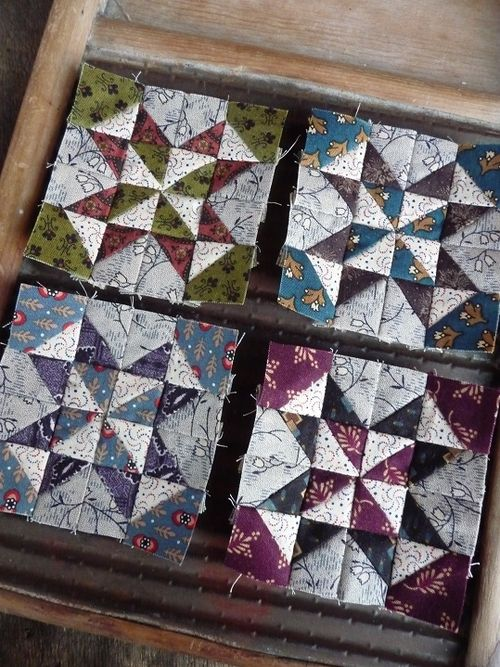 Pinwheel star blocks