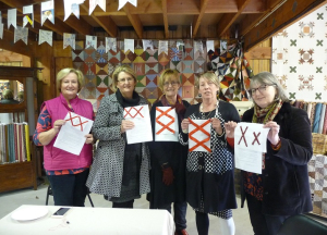Our stitched red crosses