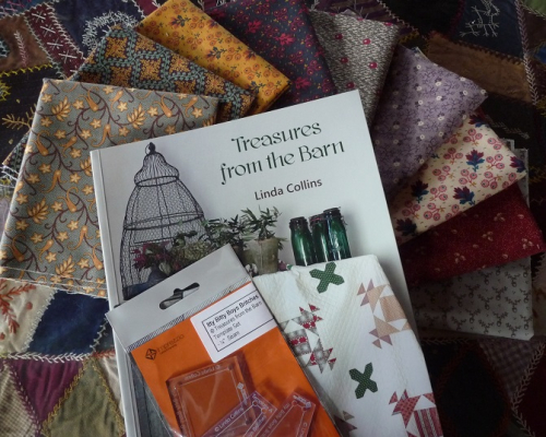 Linda's book & yummy fabric
