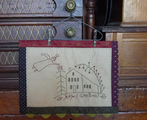 Seasons Greetings stitchery
