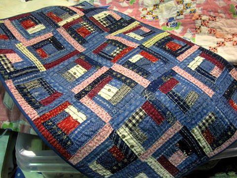 Antique log cabin quilt