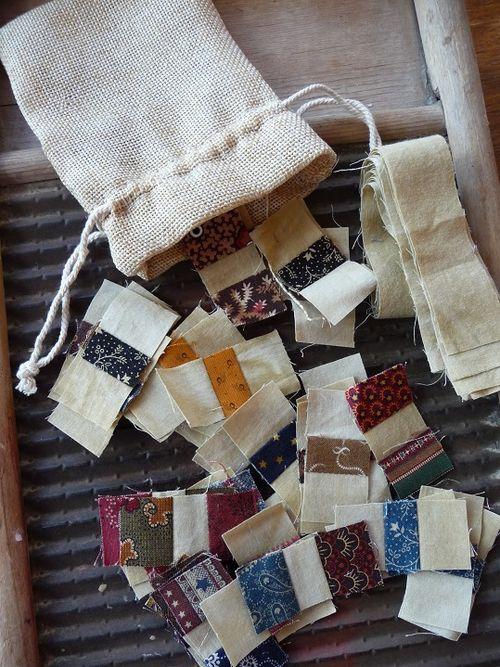 Yummy fabric scraps