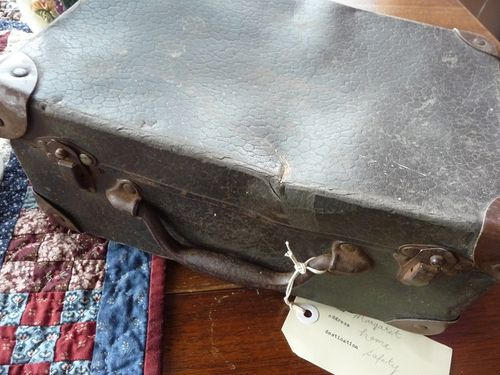 A small vintage suitcase
