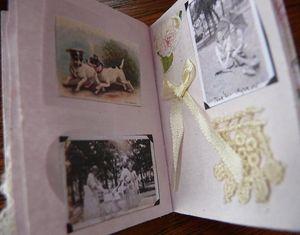Inside her tiny scrapbook (3)