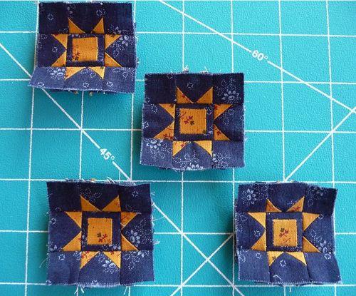 Four tiny star blocks