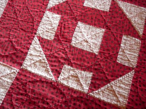1880s r&w churn dash quilt (1a)