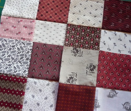 Quilters Madder step 1