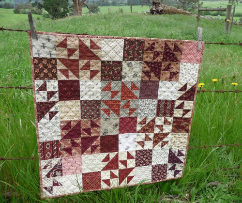 My Quilters Madder quilt (24x24)