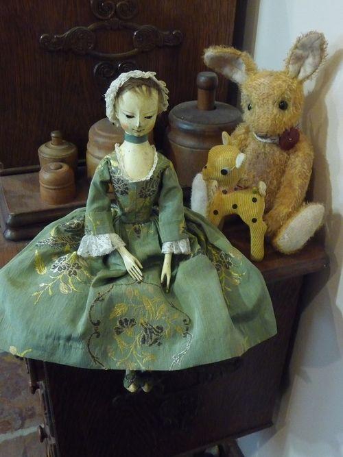 Justine meets Banjo bunny and Bambi pincushion