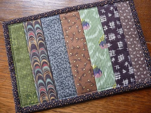 Mug rug made by Diane