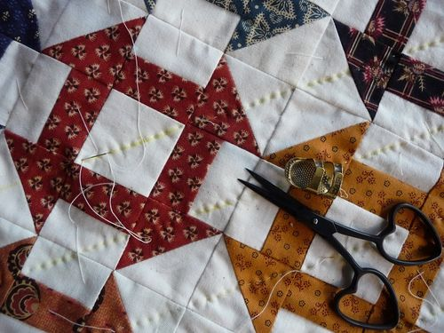 Churn dash quilting