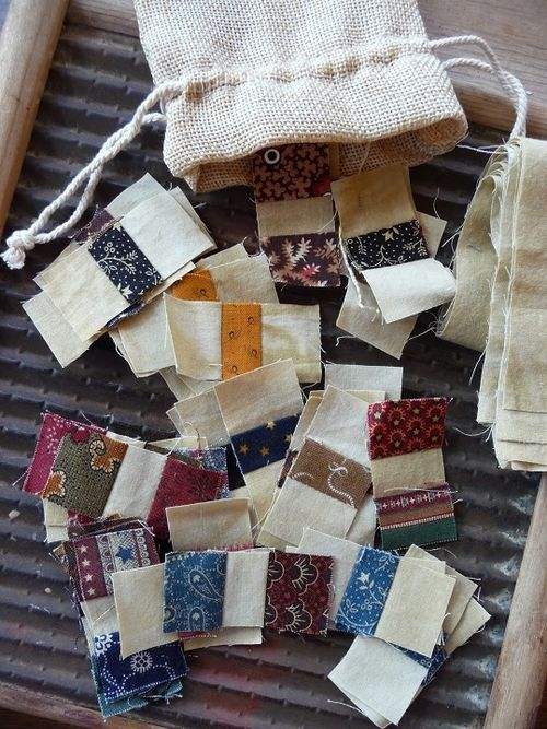 Fabric scraps from Karen